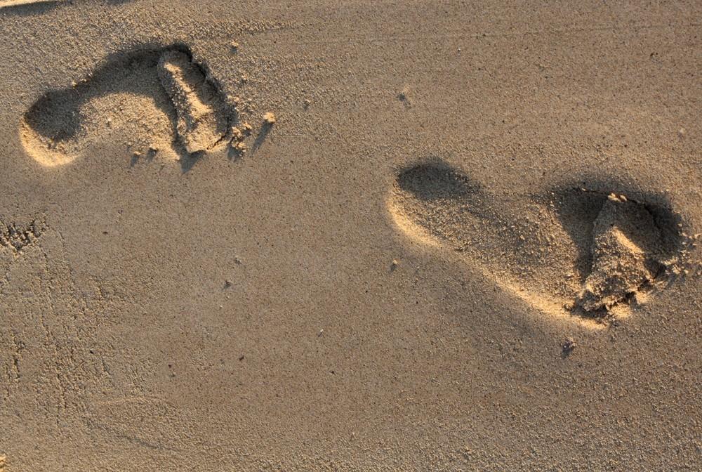 ..ad ogni giorno della mia vita, apparivano orme sulla sabbia...