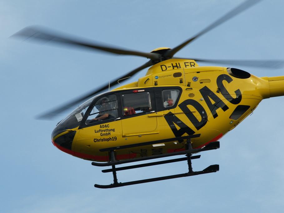 ADAC Luftrettungs-Helicopter im Einsatz