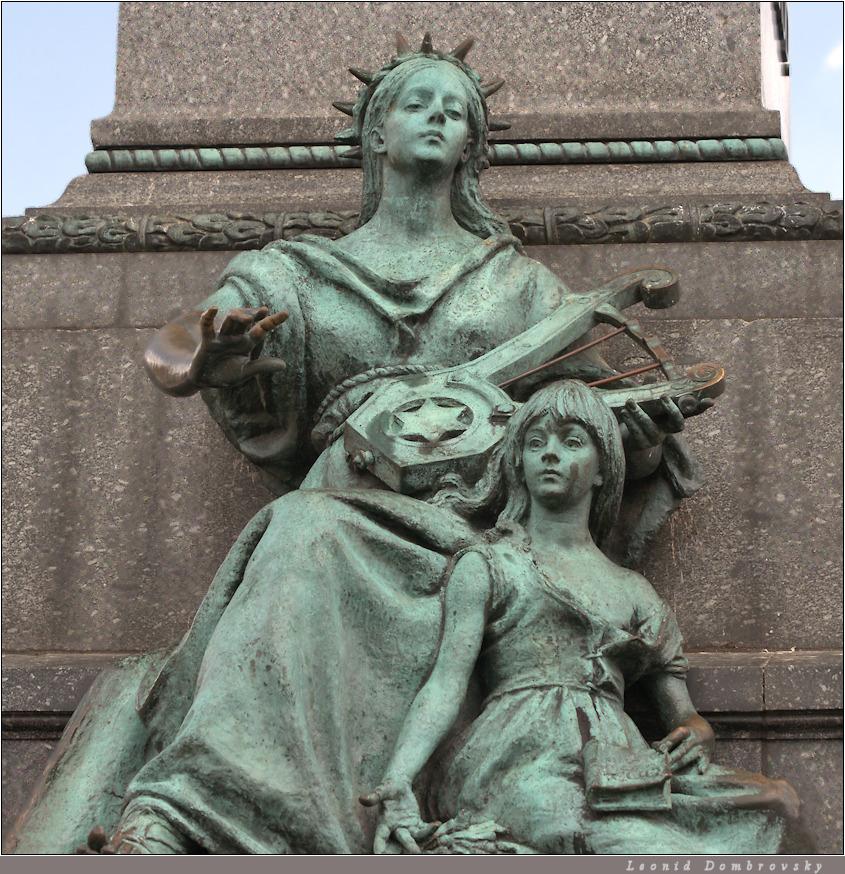 Adam Mickiewicz monument (a detail)
