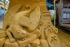Adler aus Sand