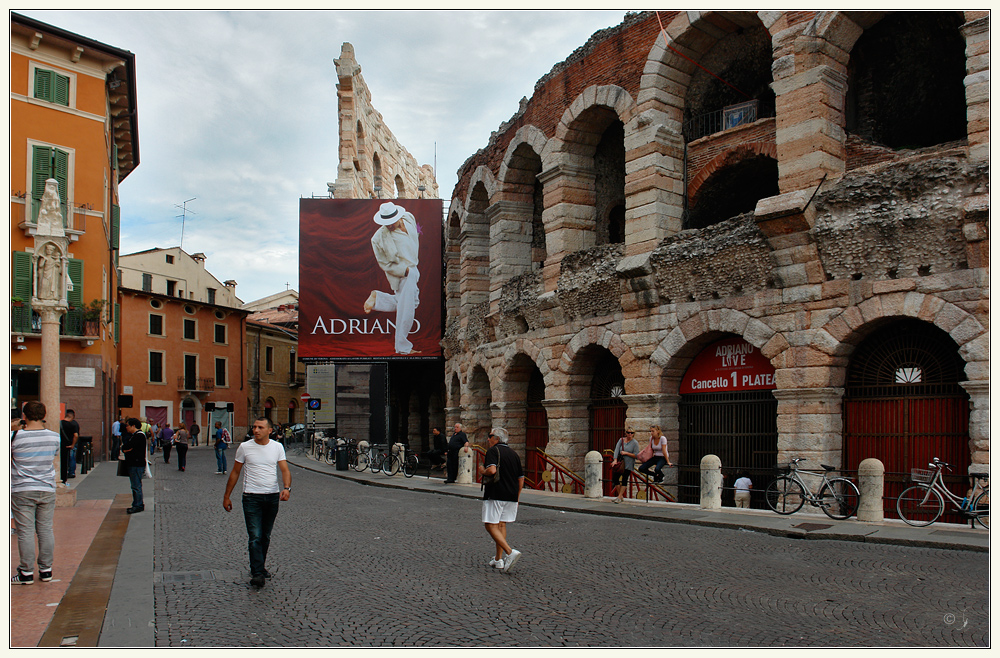 Adriano Celentano in der Arena....