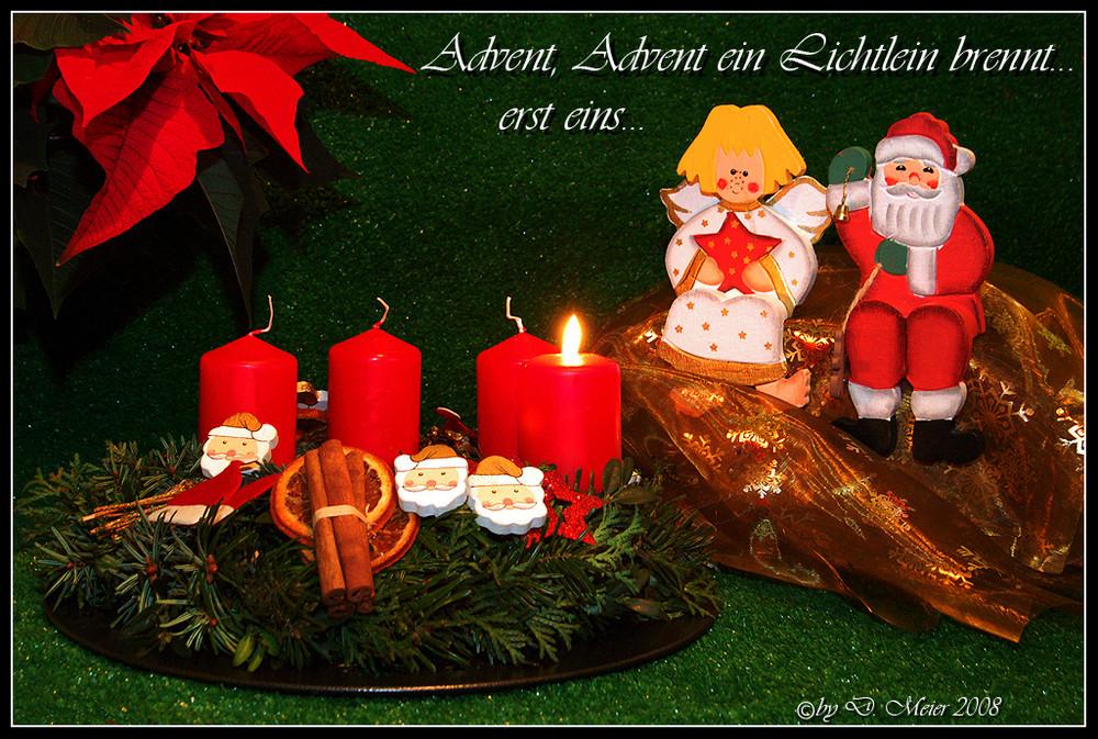 advent advent ein lichtlein brennt 1 foto bild. Black Bedroom Furniture Sets. Home Design Ideas