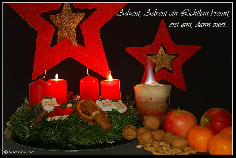 Advent Advent Ein Lichtlein Brennt 2 Foto Bild
