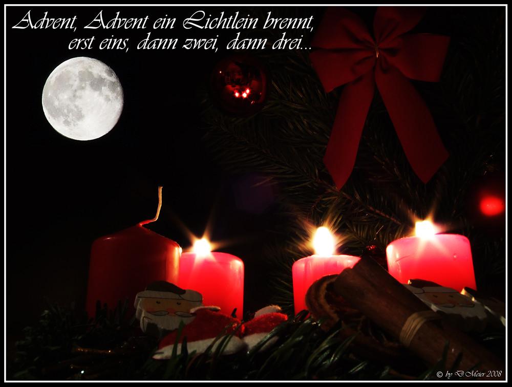 advent advent ein lichtlein brennt 3 foto bild gratulation und feiertage weihnachten. Black Bedroom Furniture Sets. Home Design Ideas