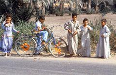 ..ägyptische Kinder am Wegesrand