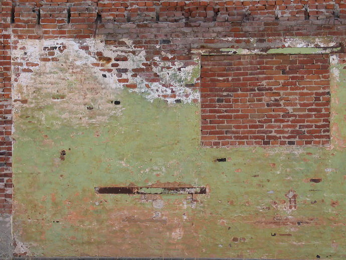 Ältere Backsteinmauer