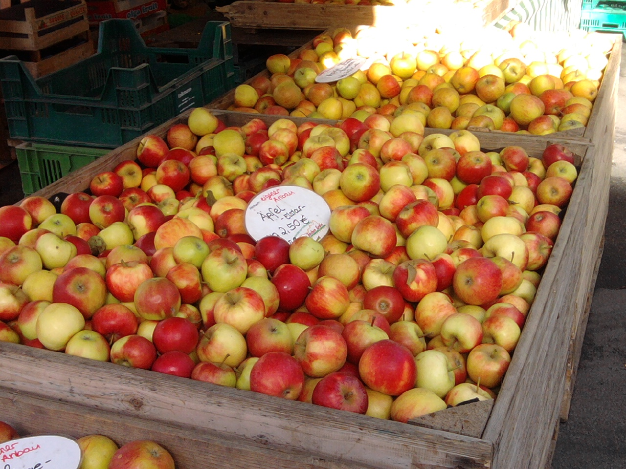 Äpfel auf dem Göttinger Wochenmarkt