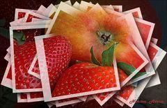 Äpfel und Erdbeeren.