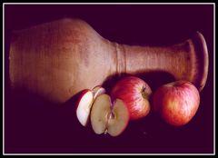 Äpfeln und Krug