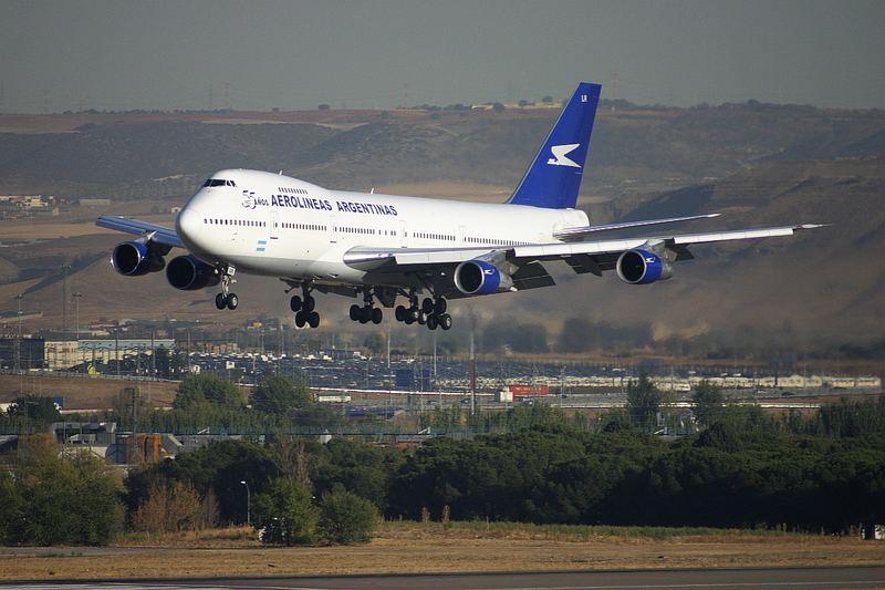 Aerolinas Argentinas Boeing 747 in Madrid
