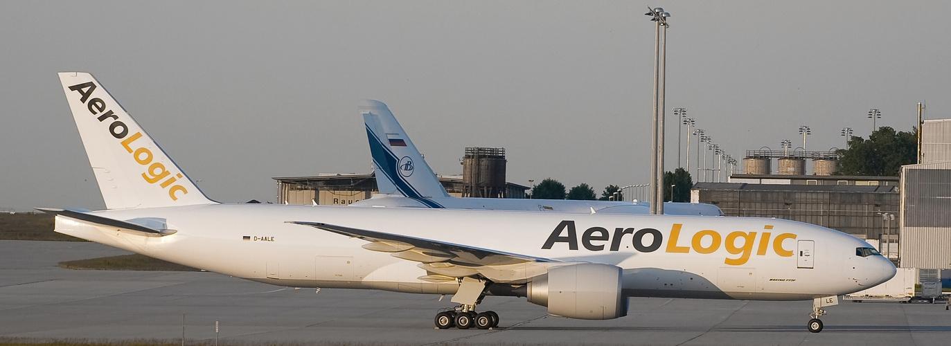 AeroLogic B777 D-AALE am Airport Leipzig / Halle