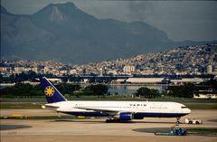Aeroporto de vista da ilha