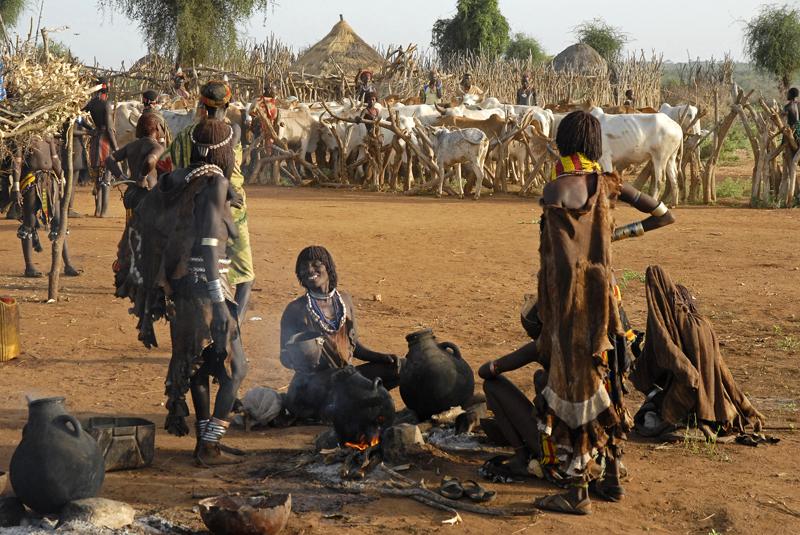 Äthiopien, bei Turmi, Hamer