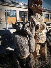 Affe und Frau Holz J5-19-07col