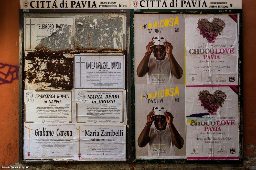 Affisioni a Pavia