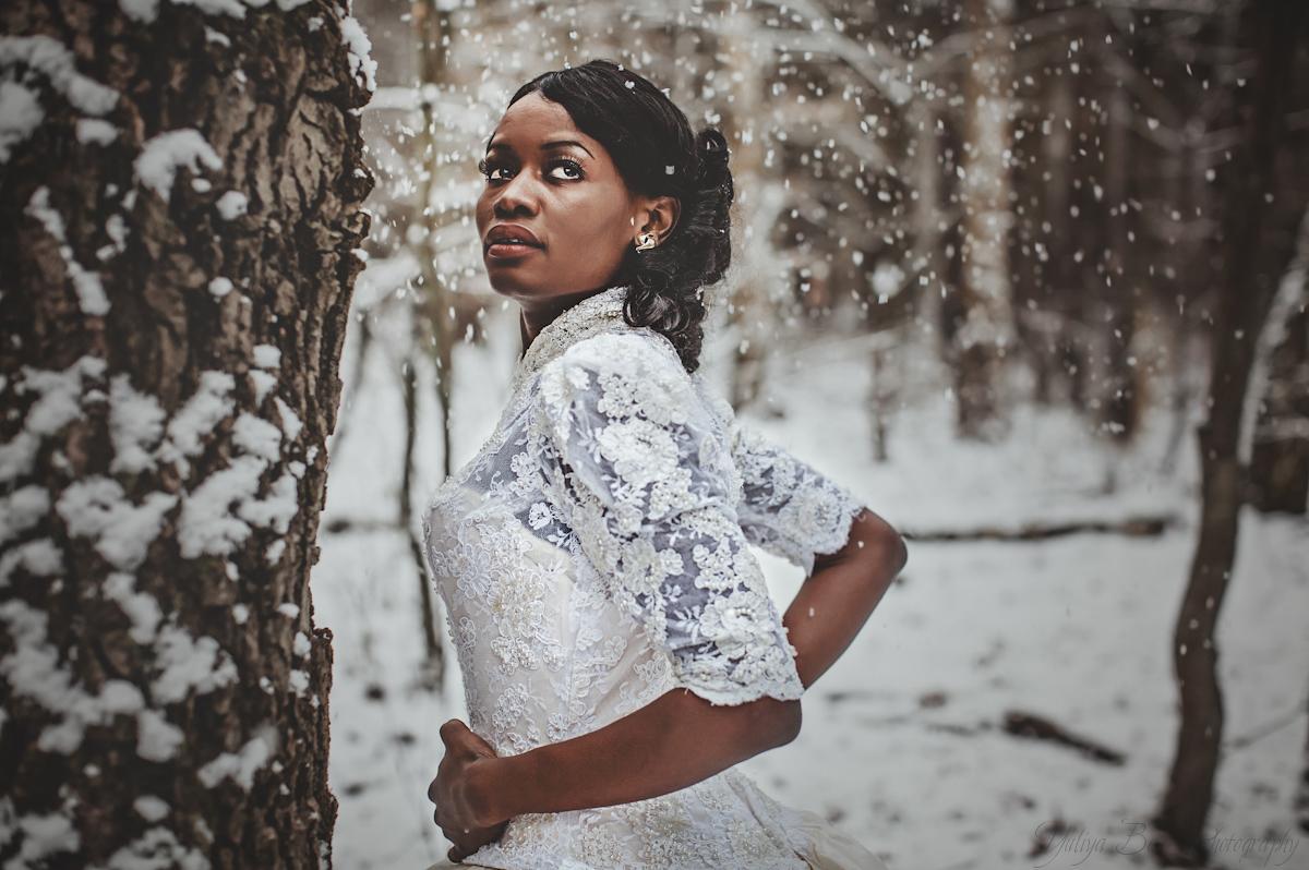 Afrikanische Braut Foto Bild Hochzeit Winter Schnee Bilder Auf