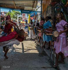 Afrikanischer spiritueller Tanz
