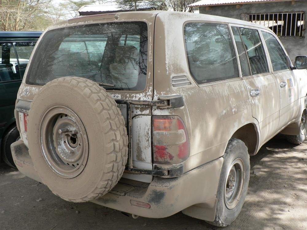 after a dusty safari