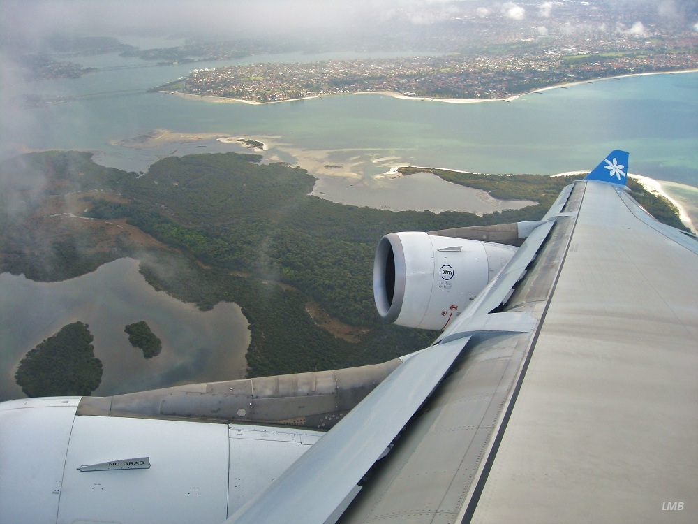 After takeoff at Kingsford-Smith