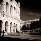 AFTERNOON SHADOWS AT THE COLOSSEUM - ROME