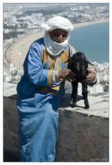 Agadir: Berber with goat at the Kasbah