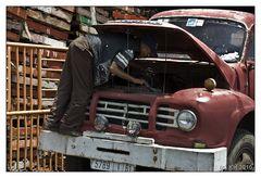 Agadir: Man at work