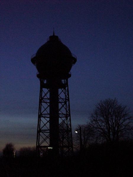 Ahlener Wasserturm gegen 18:20 Uhr