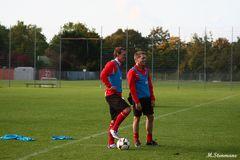 Ahmet Cebe und Andreas Lumpi Lambertz beim Training an der LTU Arena