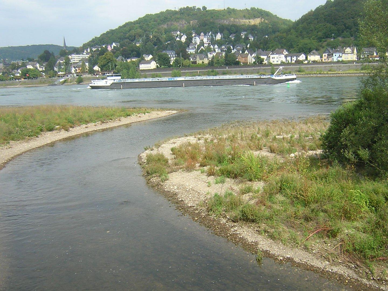 Ahrmündung in Rhein