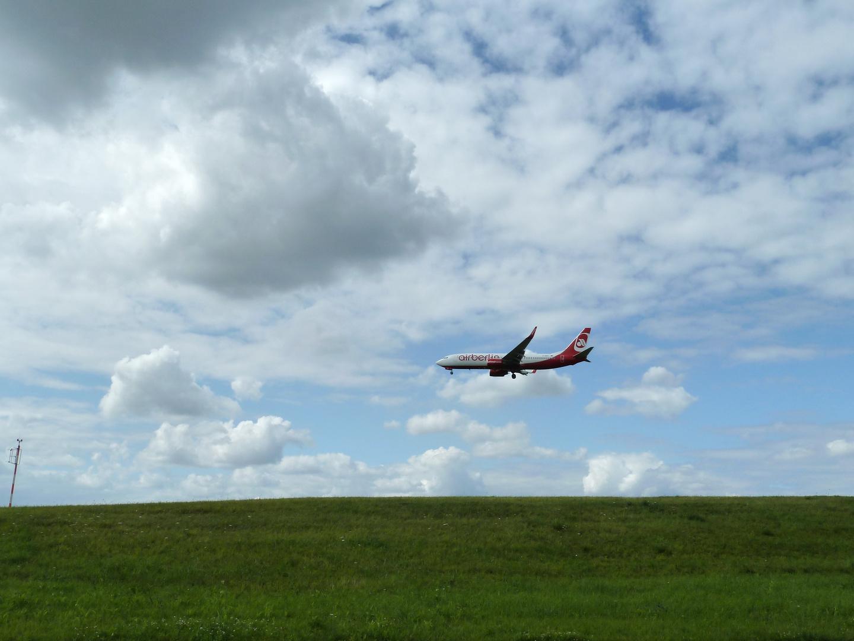 Air Berlin im Landeanflug