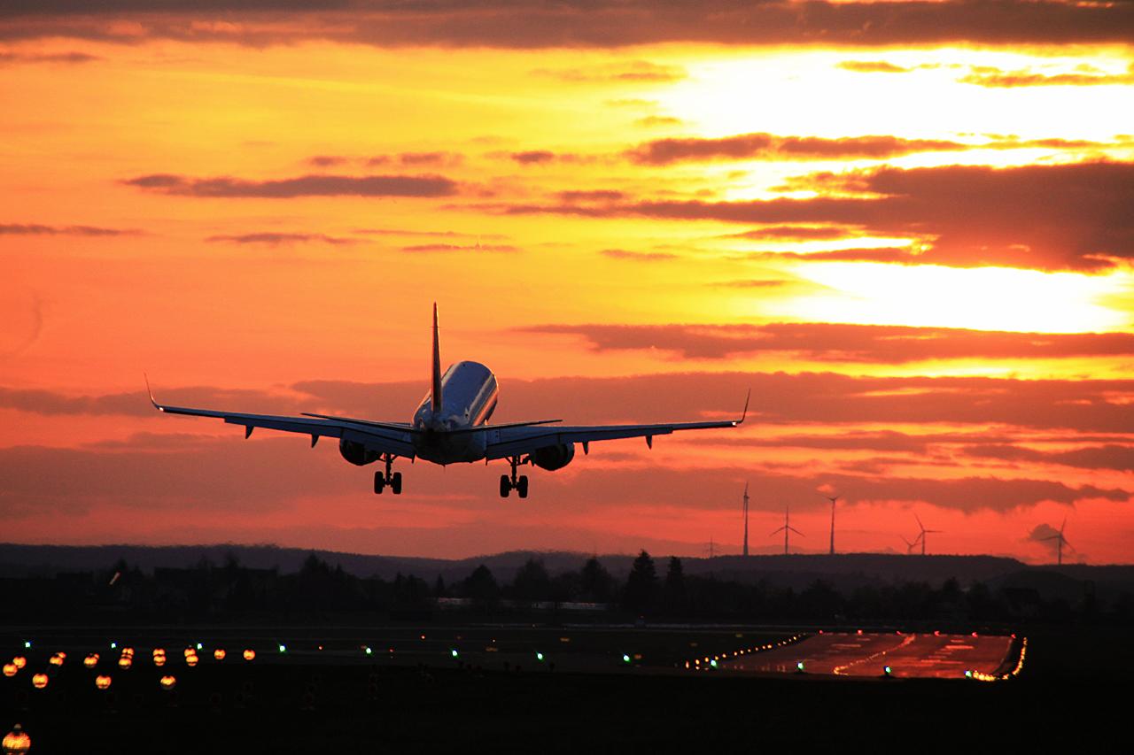 Air France kurz vorm aufsetzen in NUE