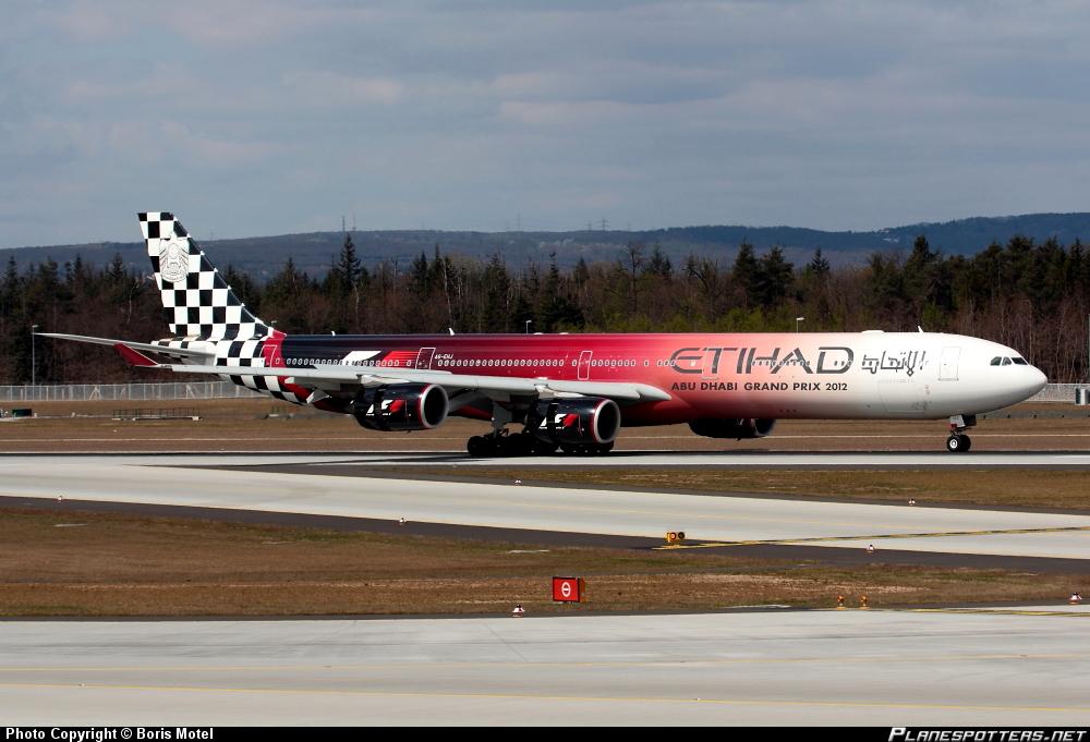 Airbus A-340-642X Etihad Airways Formula 1 livery