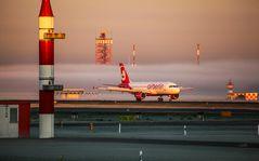 Airline im Nebel