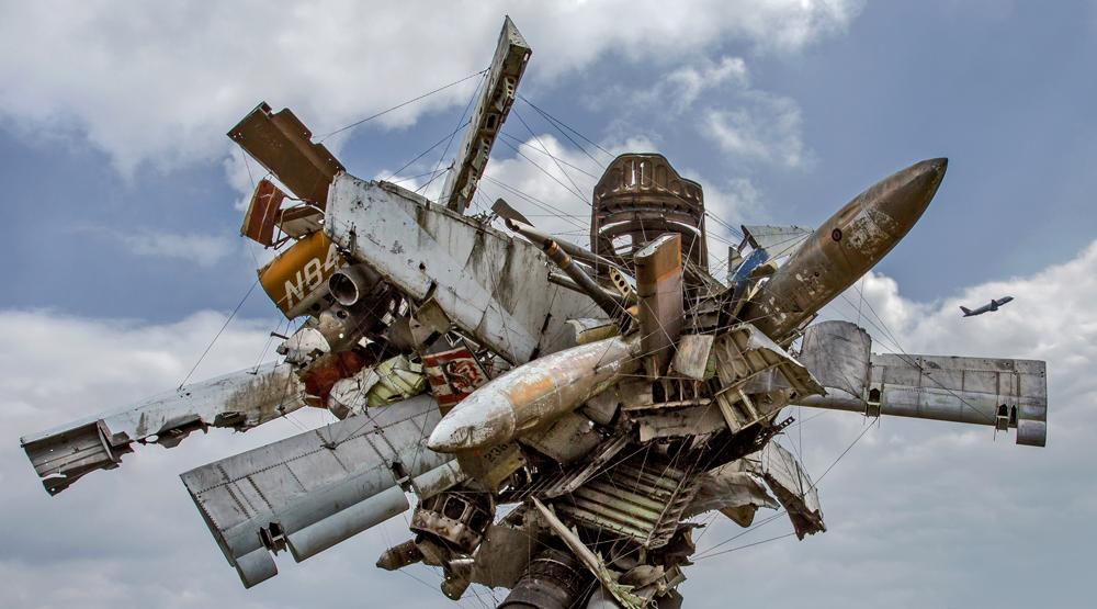 """""""Airplane Parts"""" von Nancy Rubins im Skulpturenpark Graz!"""