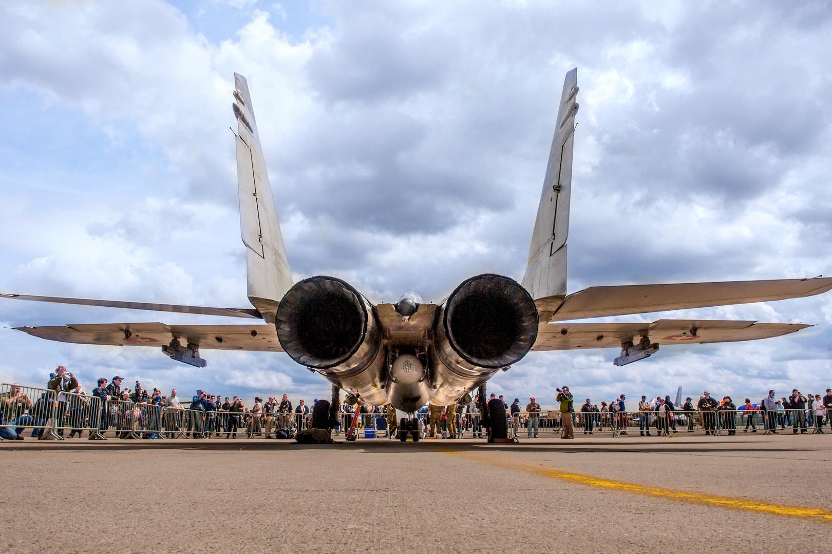 Airshow Florennes 2012 - Back Side View Mikojan-Gurewitsch MiG-29