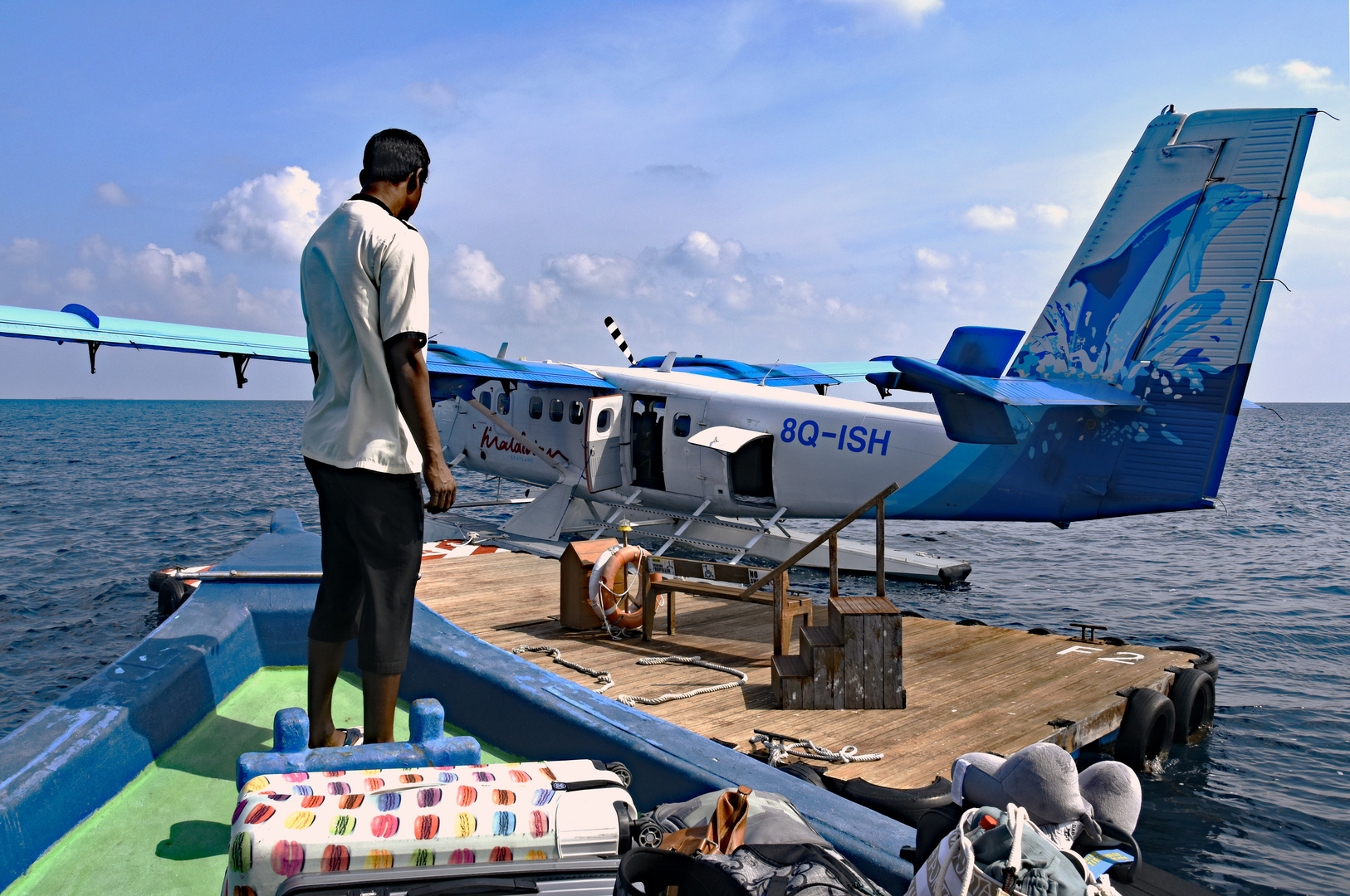 Airtaxi Ankunft auf den Malediven