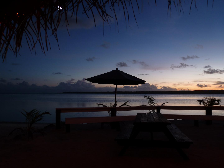 Aitutaki beim Sonnenuntergang