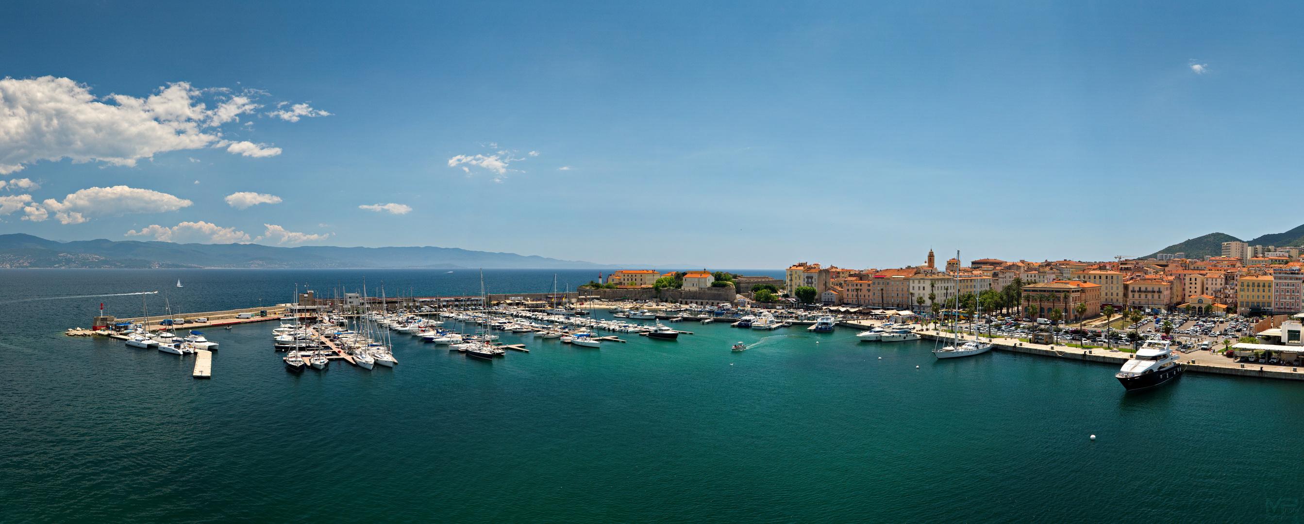 Ajaccio Hafenpanorama
