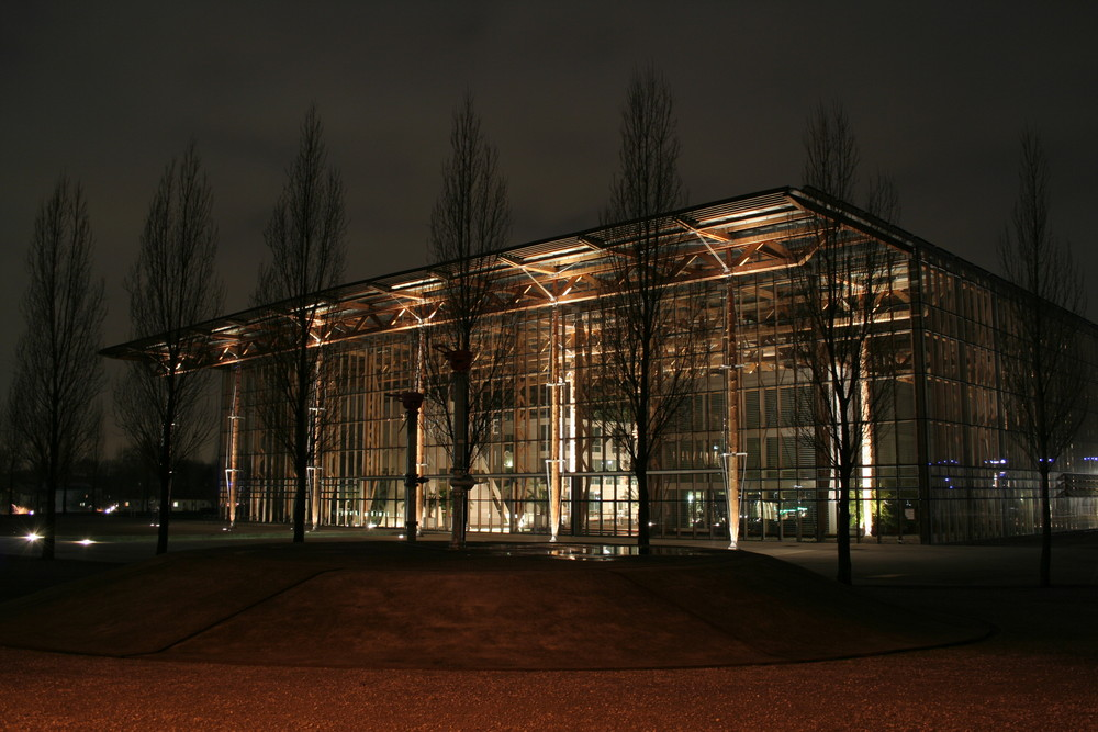 Akademie Mont Cenis in Herne-Sodingen bei Nacht