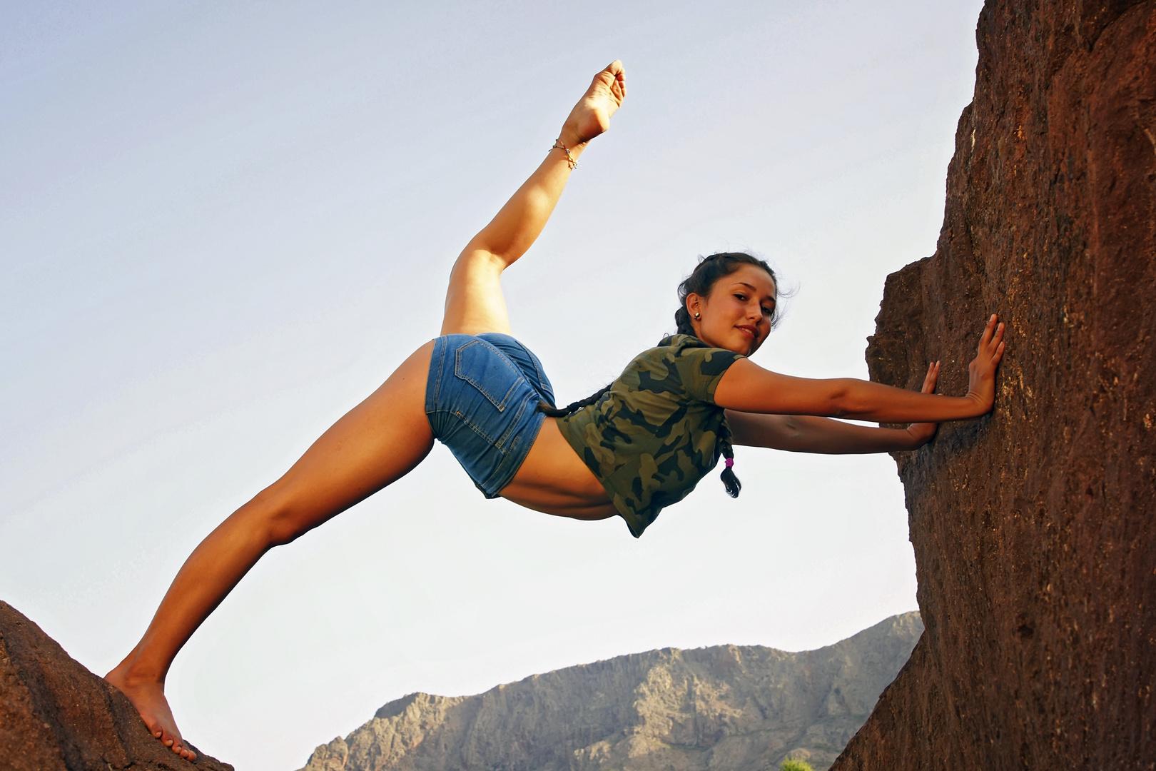 Akrobatik in den Bergen Gran Canarias