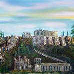 Akropolis in Öl