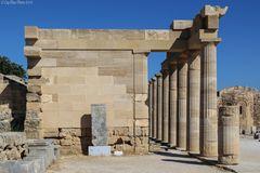 Akropolis Lindos Säulen