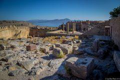 Akropolis von Lindos im ganzen Arenal
