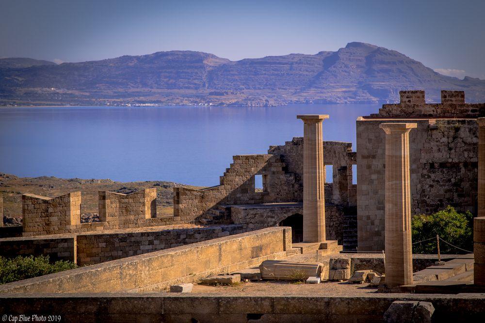 Akropolis von Lindos Rhodos am Morgen