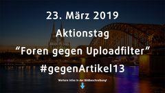 Aktionstag gegen Artikel 13