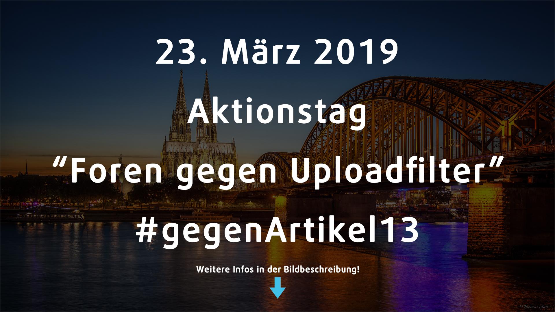 Aktionstag - #gegenArtikel13
