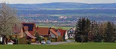 Aktueller Frühlingsblick von Meusegast nach Pirna und ins Elbtal...