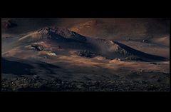 al pie del volcán