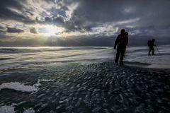 alba sul ghiacciaio