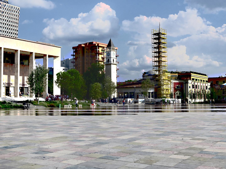 Albanien Skanderbeg Platz Tirana